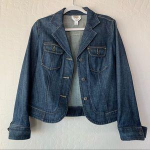 Talbots Blue Denim Jean Jacket Blazer 8